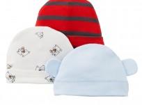 מארז שלושה כובעים לתינוק של Carter's