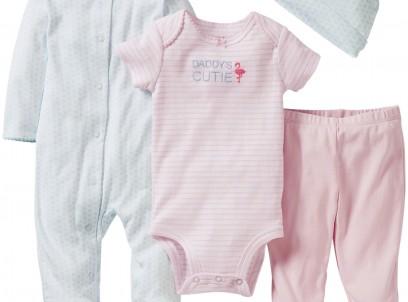 מארז במידת Preemie (פג) שני בגדי גוף, מכנסיים וכובע של Carter's – מאמי של אבא