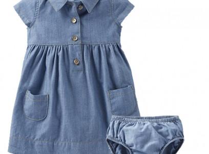 שמלה לתינוקת במידת NB של Carter's – הכי 90s