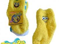 שלושה זוגות גרביים עבים במידות 6-12 חודשים – בוב ספוג