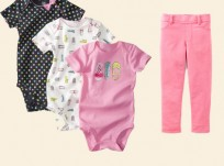 מארז שלושה בגד גוף ומכנס לתינוקת של Carter's – רקדנית