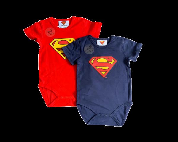 בגד גוף סופרמן לתינוקות בזוג 100% כותנה