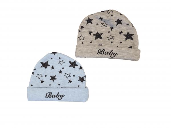 זוג כובעי פוטר תינוקות מידות 0-6