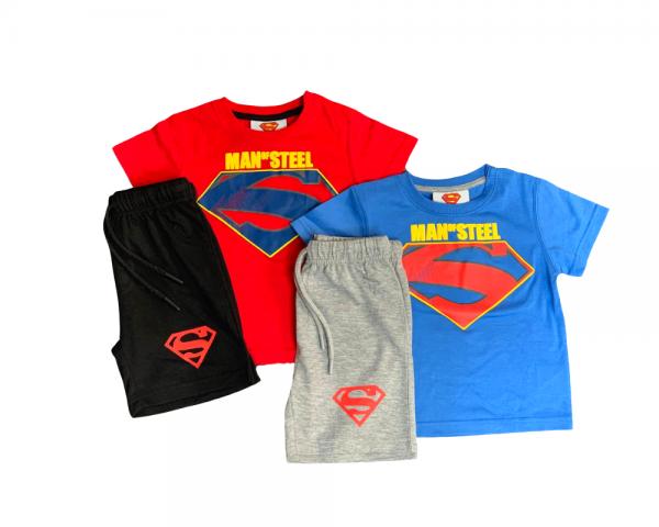 חליפת סופרמן לתינוקות בזוג 100% כותנה