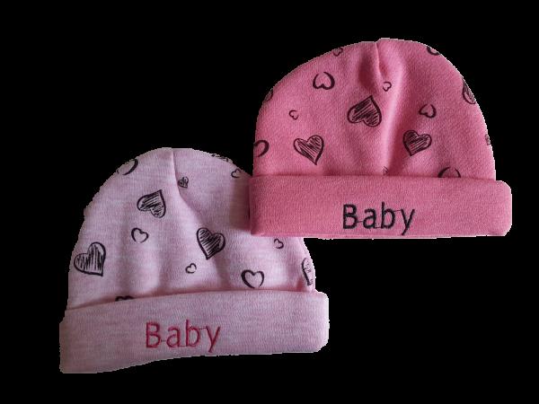 זוג כובעי פוטר לבנות 100% כותנה מידה 0-6