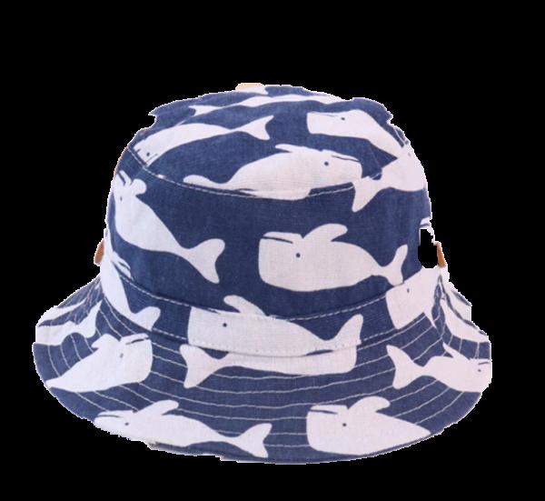כובע טמבל קיץ תינוקות דגים כחול כהה