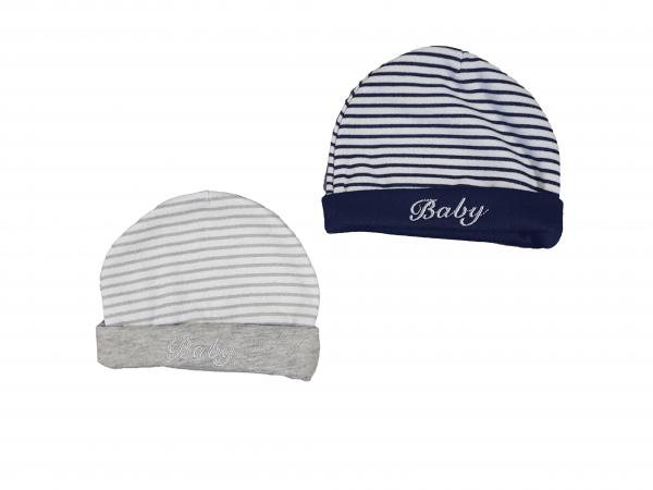 זוג כובעי פוטר פסים מידות 0-6 לתינוקות
