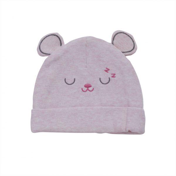 כובע תינוקות טריקו ורוד