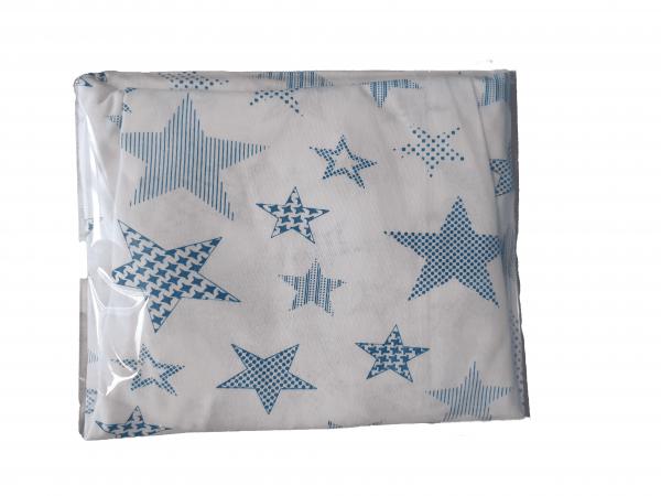 סדין עריסה כוכבים כחול 100% כותנה סטנדרט