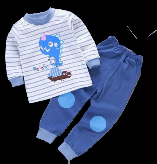 חליפת תינוקות פסים כחול