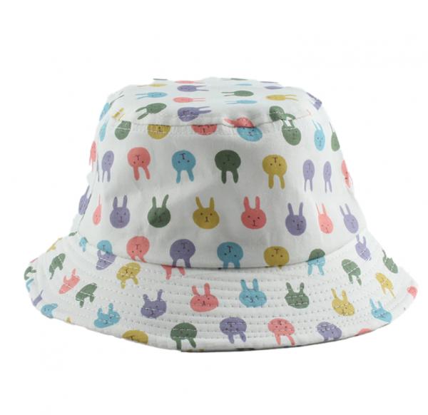 כובע טמבל תינוקות לבן עם ארנבים