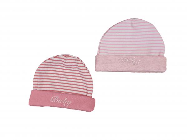 זוג כובעי פוטר ורודים פסים מידות 0-6