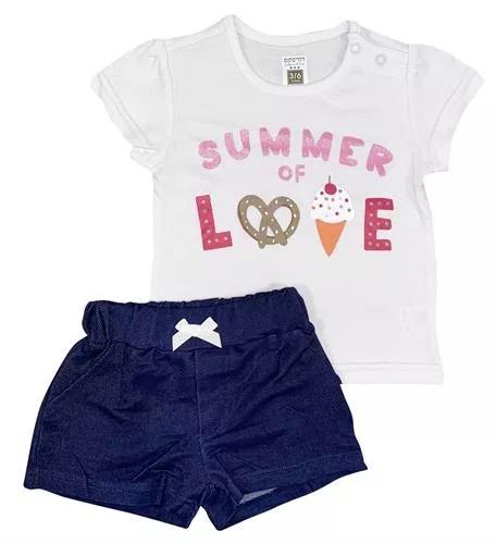 חליפת קיץ בנות 100% כותנה