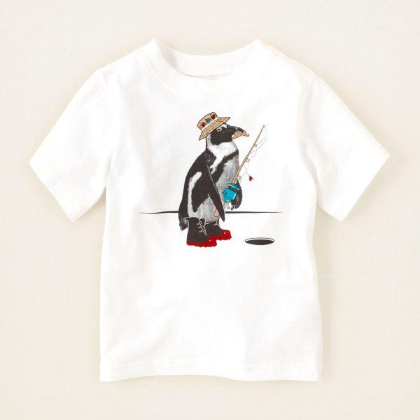 חולצה קצרה לתינוק מבית Children's Place – פינגווין דייג