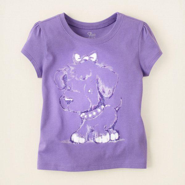 חולצה קצרה לתינוקת מבית Children's Place – כלבלב סגול