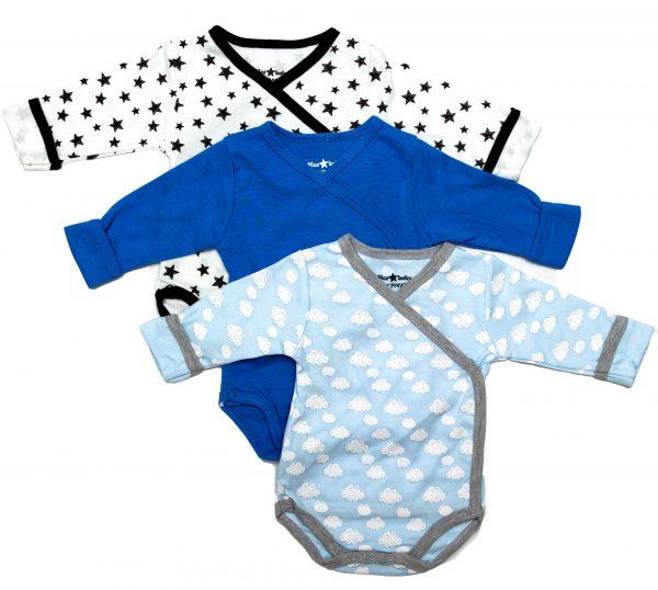 שלישיית בגדי גוף ארוך לתינוק