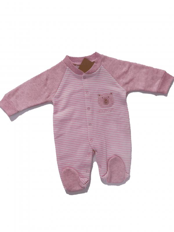 אוברול תינוקות ורוד