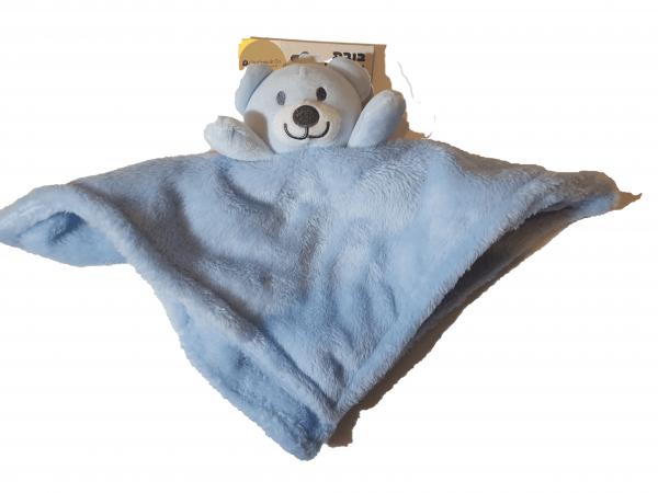 בובת חיבוקי פרווה דובי כחול