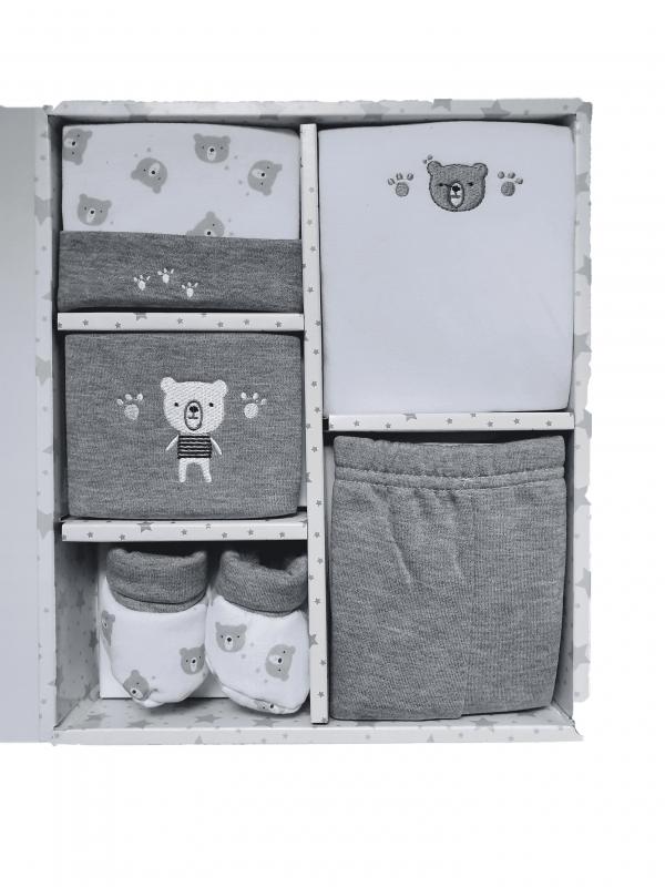 מארז יולדות 5 חלקים אפור דובי