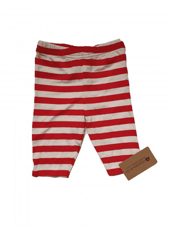 מכנס ארוך פסים אדום לבן 100% כותנה