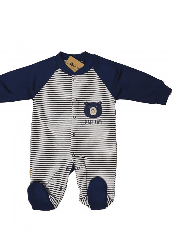אוברול פוטר תינוקות כחול כהה פסים