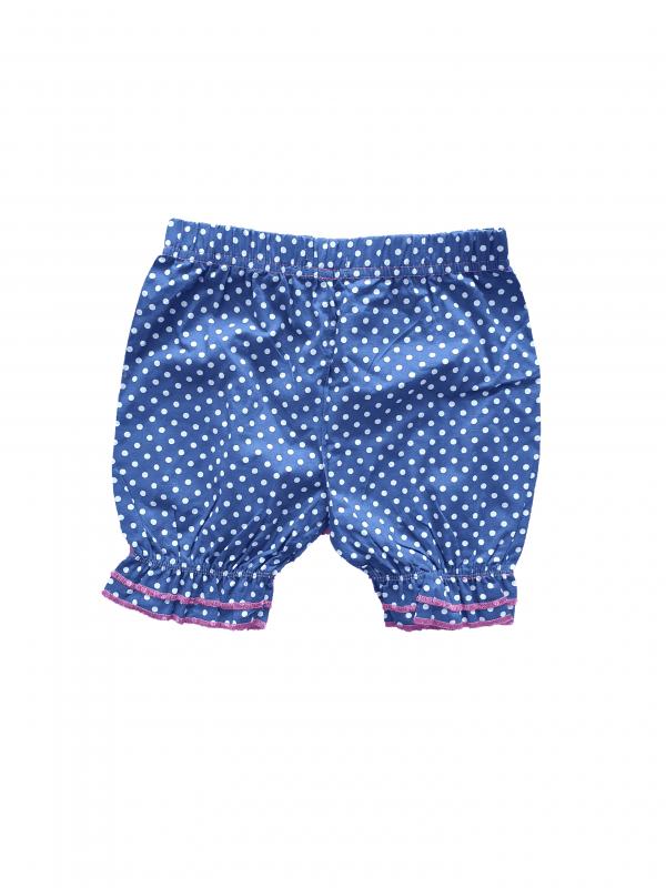 מכנס קצר כחול מנוקד 100% כותנה
