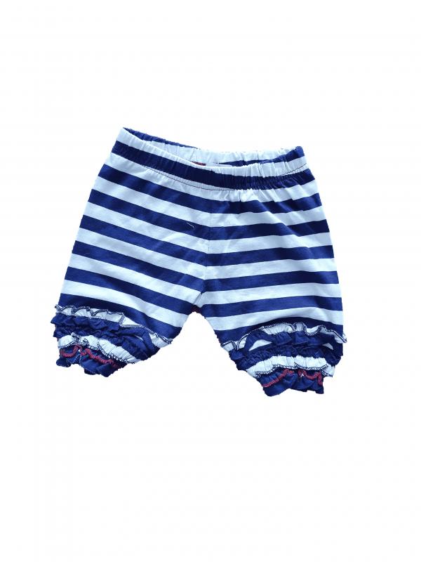 מכנס קצר פסים כחול לבן 100% כותנה