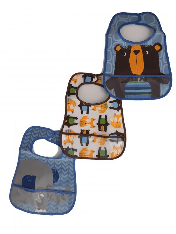 שלישיית סינרי פלסטיק לתינוקות