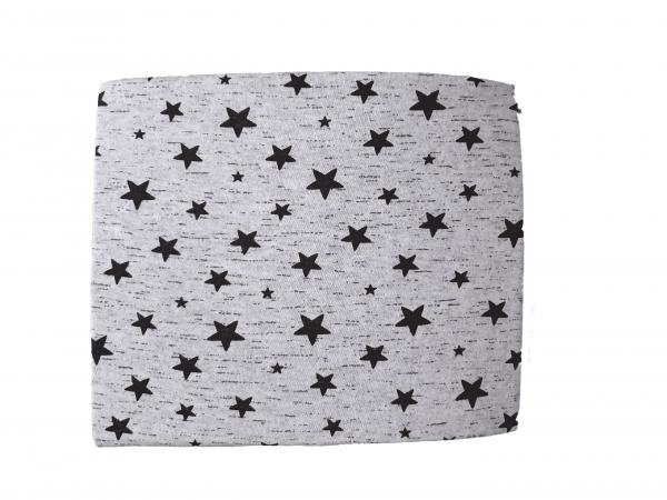 סדין עריסה שחור לבן כוכבים 100% כותנה