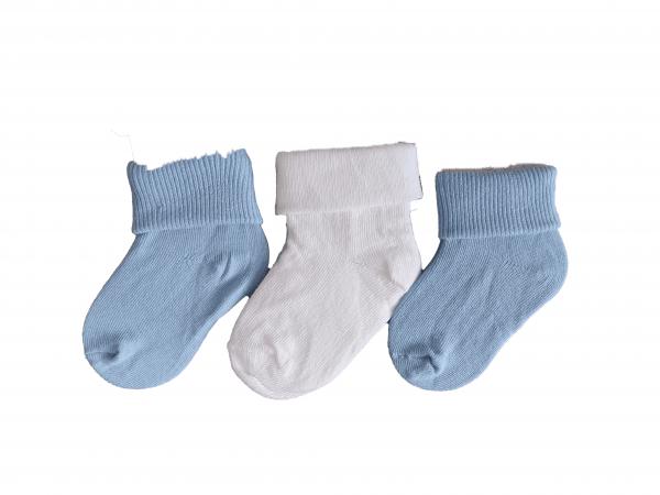 שלישיית גרביים כחול לבן מידה 0-6