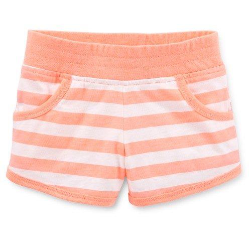 מכנסיים לתינוקת של Carter's – פסים אפרסקים