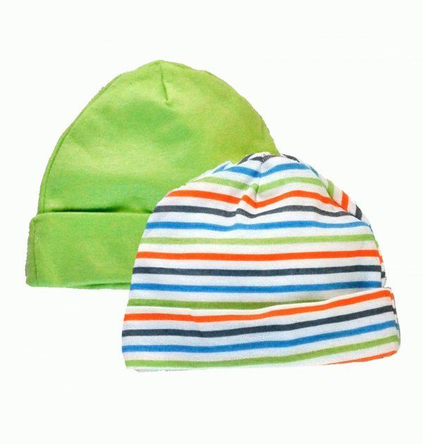 מארז שני כובעים לתינוק מבית Gerber – מידות 0-6 חודשים