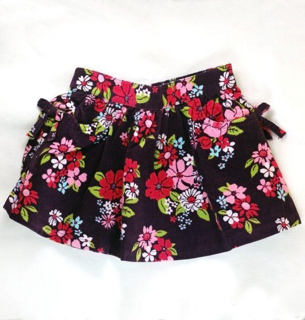 חצאית קורדרוי מבית Crazy8 – סגולה עם כיסים