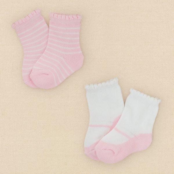 שני זוגות גרביים לתינוקת מבית  Children's Place – בלרינה