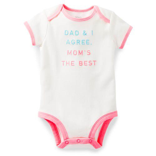 בגד גוף לתינוקת של Carter's – אוהבים אותך, אמא! במידת NB
