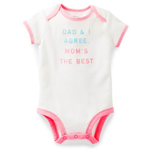 בגד גוף לתינוקת של Carter's - אוהבים אותך, אמא!