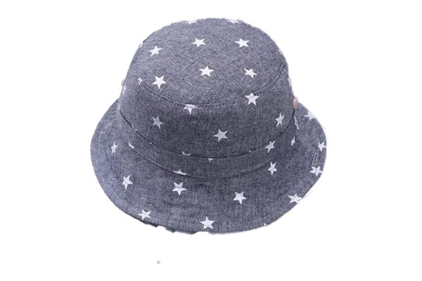 כובע טמבל כוכבים כחול כהה עם חוט