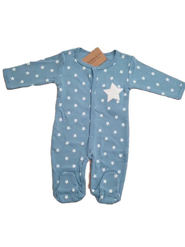 אוברול כוכבים כחול 100% כותנה
