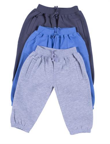 שלישיית מכנסי פוטר איכותיות  אפור כחול