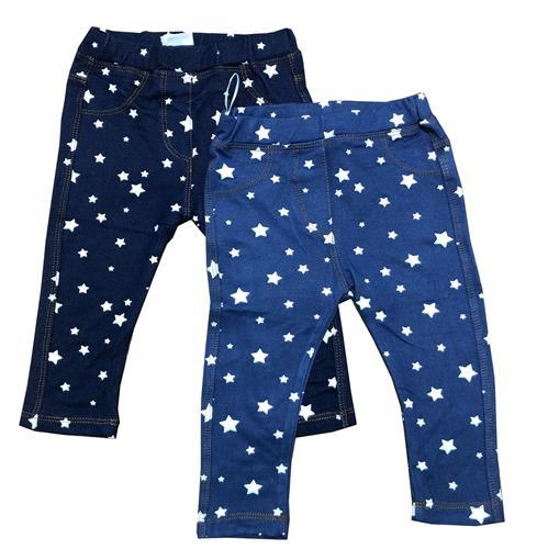 זוג טייצים נעימים דמוי ג'ינס כחולים
