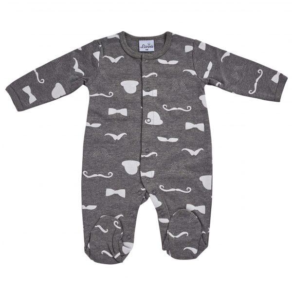 אוברול תינוקות טריקו אפור צורות 100% כותנה