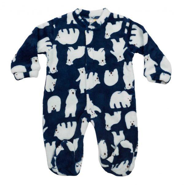 אוברול פרווה דובי קוטב כחול כהה